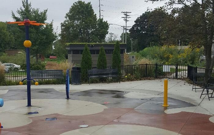 Green Roof Trays at Goodman Community Center